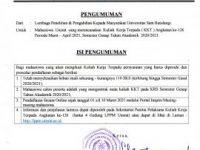 Pembukaan Pendaftaran Kuliah Kerja Terpadu (KKT) Angkatan Ke-126