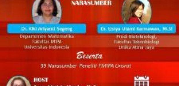 Webinar Nasional Diseminasi Hasil-Hasil Penelitian Dosen Fakultas MIPA Universitas Sam Ratulangi
